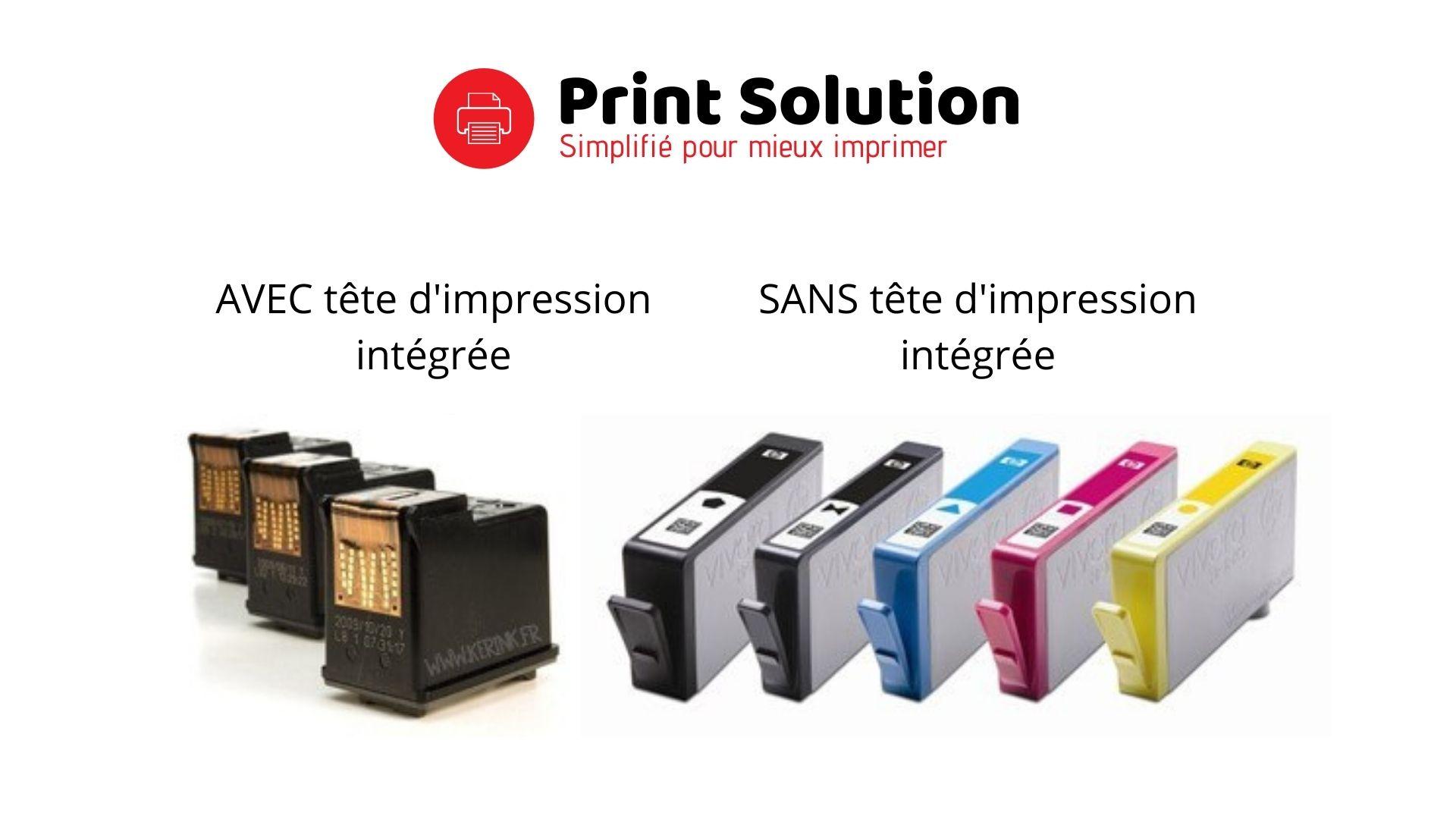Différence entre les cartouches d'imprimante AVEC et SANS têtes d'impression